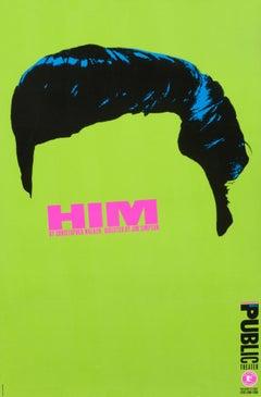 """Him by Christopher Walken - Public Theater"" Original Elvis Poster"