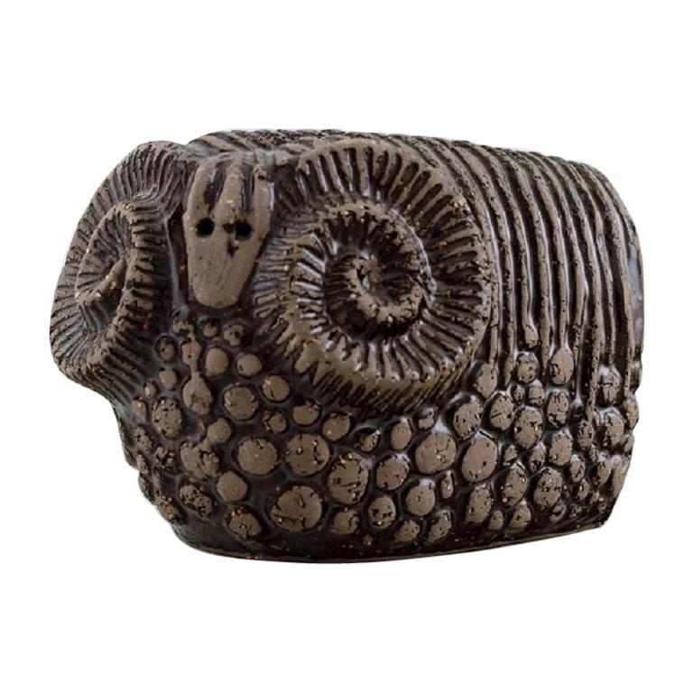 Paula von Freymann for Upsala-Ekeby, Ram in Glazed Stoneware, 1960s For Sale