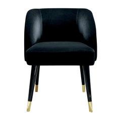 Pauline Black Dining Chair by Dom Edizioni