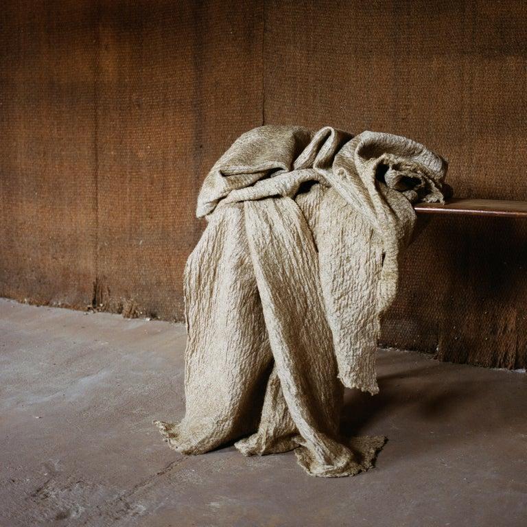 French Pauline Esparon Flax Textile, L'écoucheur Collection For Sale