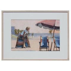 Impressionist Beach Scene