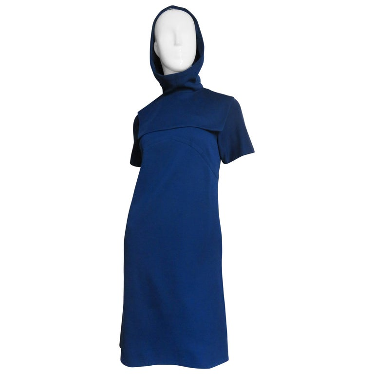 Pauline Trigere 1960s Dress and Hood For Sale