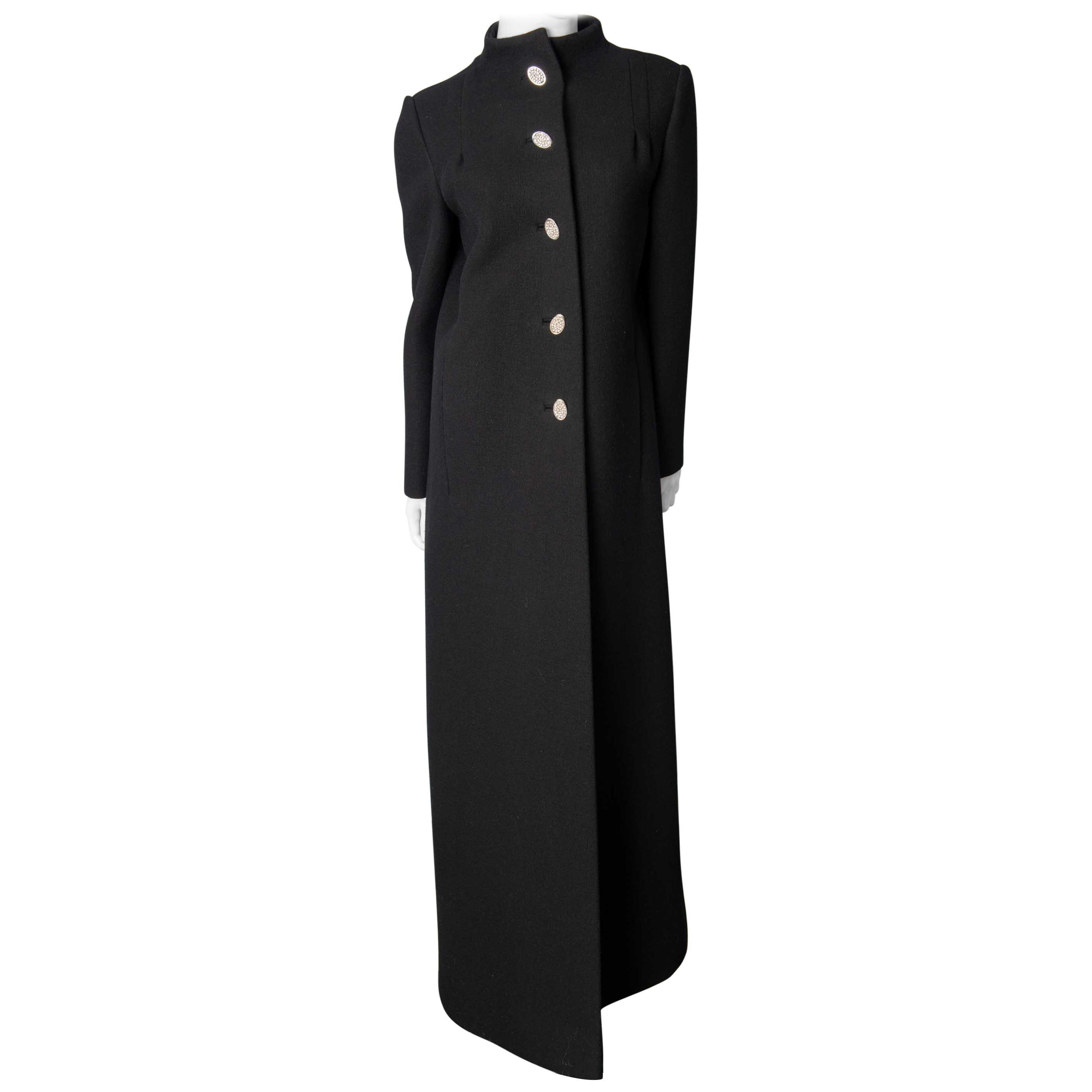 Pauline Trigere  Black Evening Coat