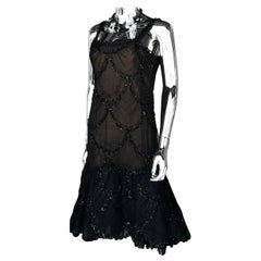 Pauline Trigere Couture Little Black Dress Cocktail Chic