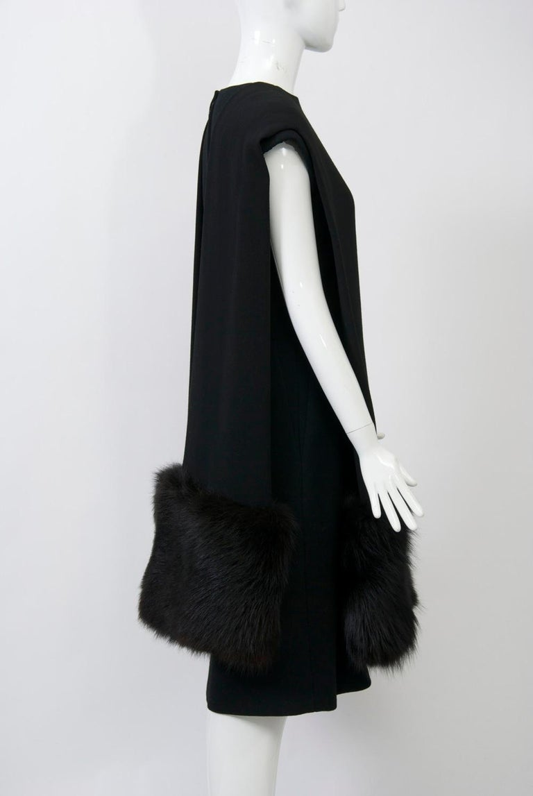 Pauline Trigère Ensemble with Fox Trim In Good Condition For Sale In Alford, MA