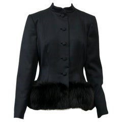 Pauline Trigère Fox-Trimmed Jacket