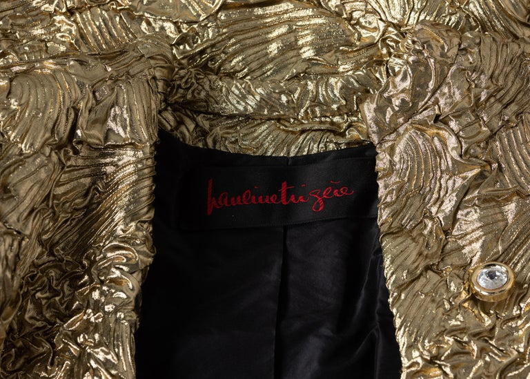 Pauline Trigère Gold Jewel Buttons Evening Jacket For Sale 4