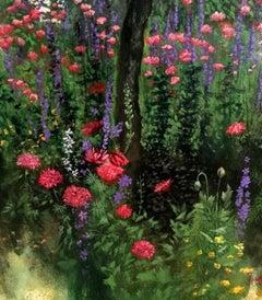 A walk through the garden, Painting, Oil on Canvas