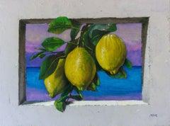 """Fragrance of Lemon Trees"", Painting, Oil on Canvas"