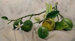Lemons II, Painting, Oil on Canvas