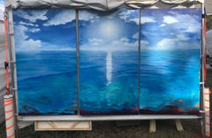 Ocean triptych, Painting, Oil on Canvas