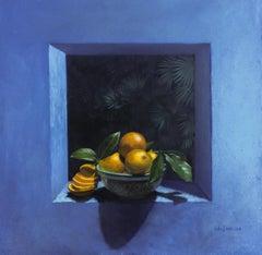 Orange Delight II, Painting, Oil on Canvas