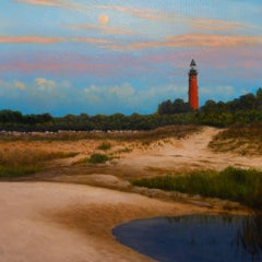 Ponce Inlet Lighthouse, Painting, Oil on Canvas