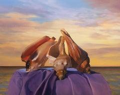 Three Seashells, Painting, Oil on Canvas