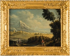 Pair of 18th century Italian landscape paintings - Flemish, oil on panel, Italy