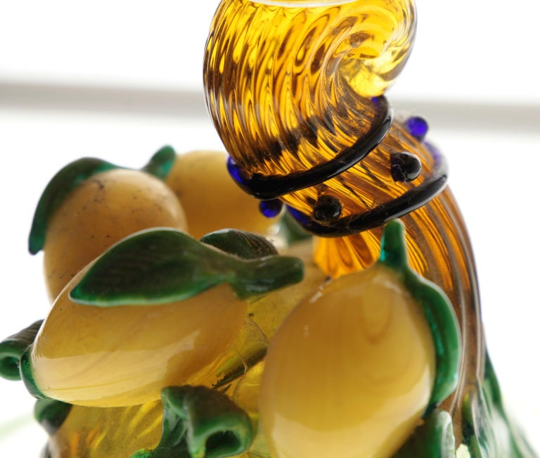 Pauly Venice Cornucopia Footed Bowl, Murano Glass, Gold Leaf Applications, 1960s For Sale 3