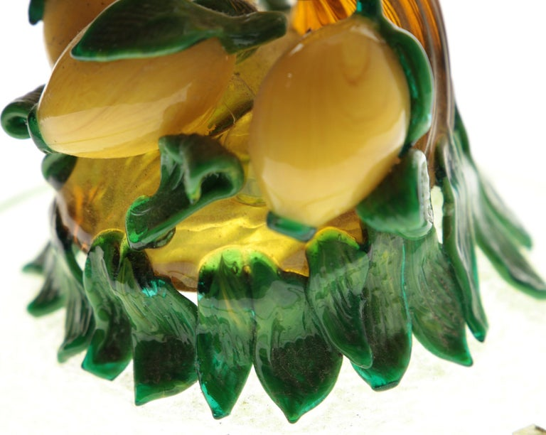 Pauly Venice Cornucopia Footed Bowl, Murano Glass, Gold Leaf Applications, 1960s For Sale 6