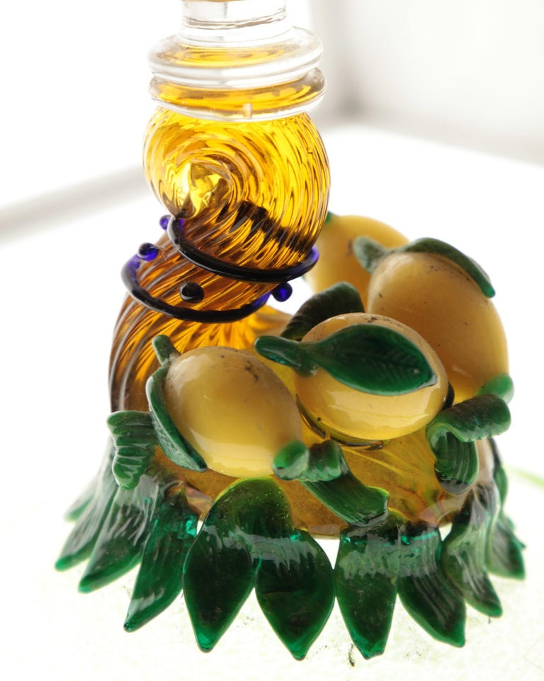 Pauly Venice Cornucopia Footed Bowl, Murano Glass, Gold Leaf Applications, 1960s For Sale 12