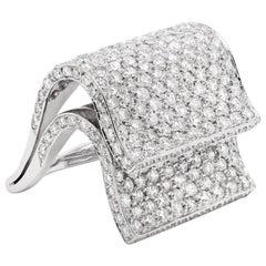 Pavé Diamond 18 Carat White Gold Piano Cocktail Ring