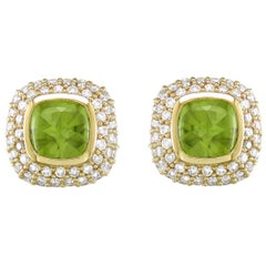 Hammerman Brothers Pave Diamond and Peridot Earrings
