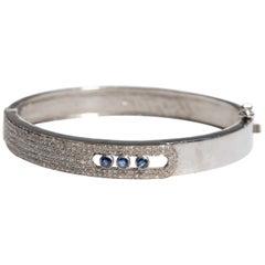 Pave` Diamond and Sapphire Bracelet