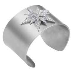 Pavé Diamond Centaurus Star Titanium Cuff
