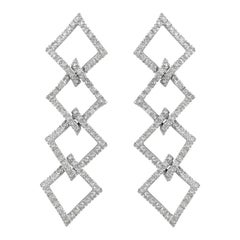 Hammerman Brothers Pave Diamond Chandelier Earrings