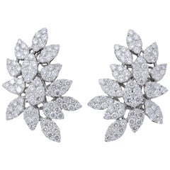 Pave Diamond Cluster Earrings