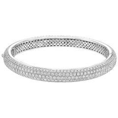 Pavé Diamond Domed Bangle '8.50 Carat'
