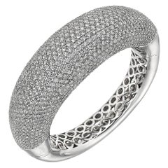 Pavé Diamond Domed Bangle Bracelet