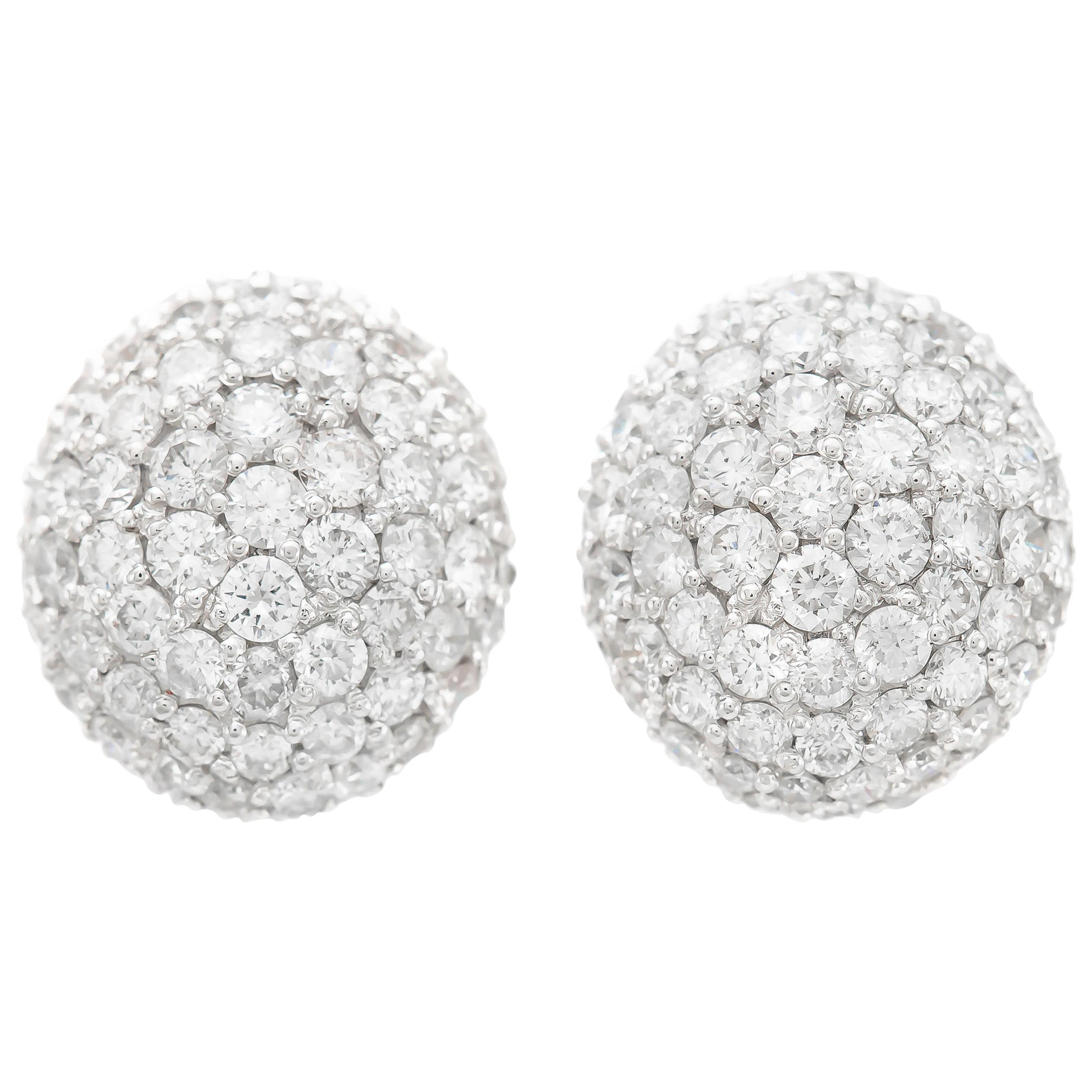 7.00 Carat Pave Diamond Earrings