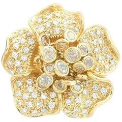 Hammerman Brothers Pave Diamond Flower Shaker Ring