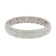Pavé Diamond Gold Eternity Bracelet