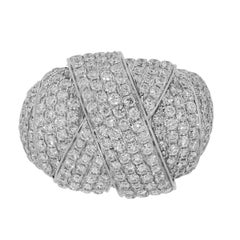 Pave Diamond Large Knot Ring