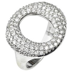 "Pavé Diamond ""O"" Cocktail Ring"
