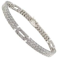 Pave Diamond Set Platinum Bracelet