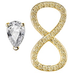 Pave Infinity Mismatched Earrings