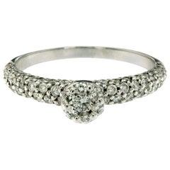 Pave Round Diamond Gold Ring