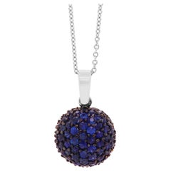 Pave Sapphire Round Pendant
