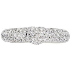 Pave Set 1,00 Karat Diamant-Herz-Ring