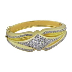 Pave Set Diamond Bangle
