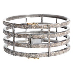Pavé Set Diamond Cuff Bracelet