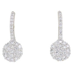 Pave Set Diamond Drop Earrings