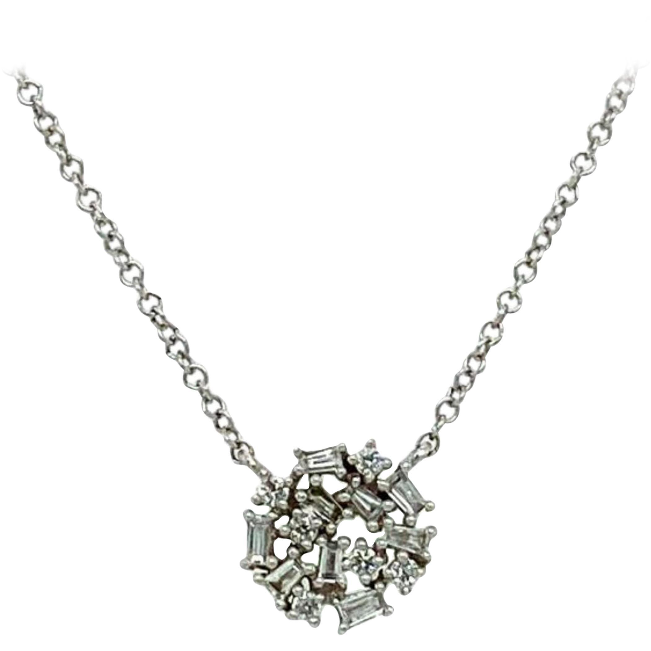 Pavee Diamond Pendant Necklace