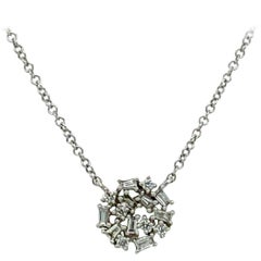 Pavee Diamond Pendant Necklace