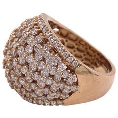 Pavee Diamond Ring in Rose Gold