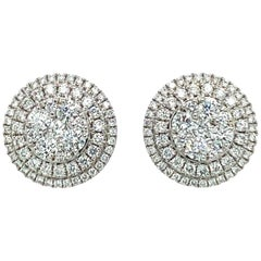 Pavee Diamond Stud Earrings