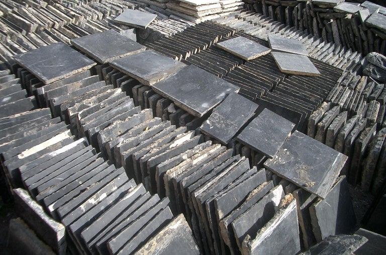 Other Paving Slabs in Old,  Belgian Bleu Stone For Sale