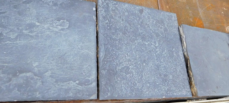 Paving Slabs in Old,  Belgian Bleu Stone For Sale 2