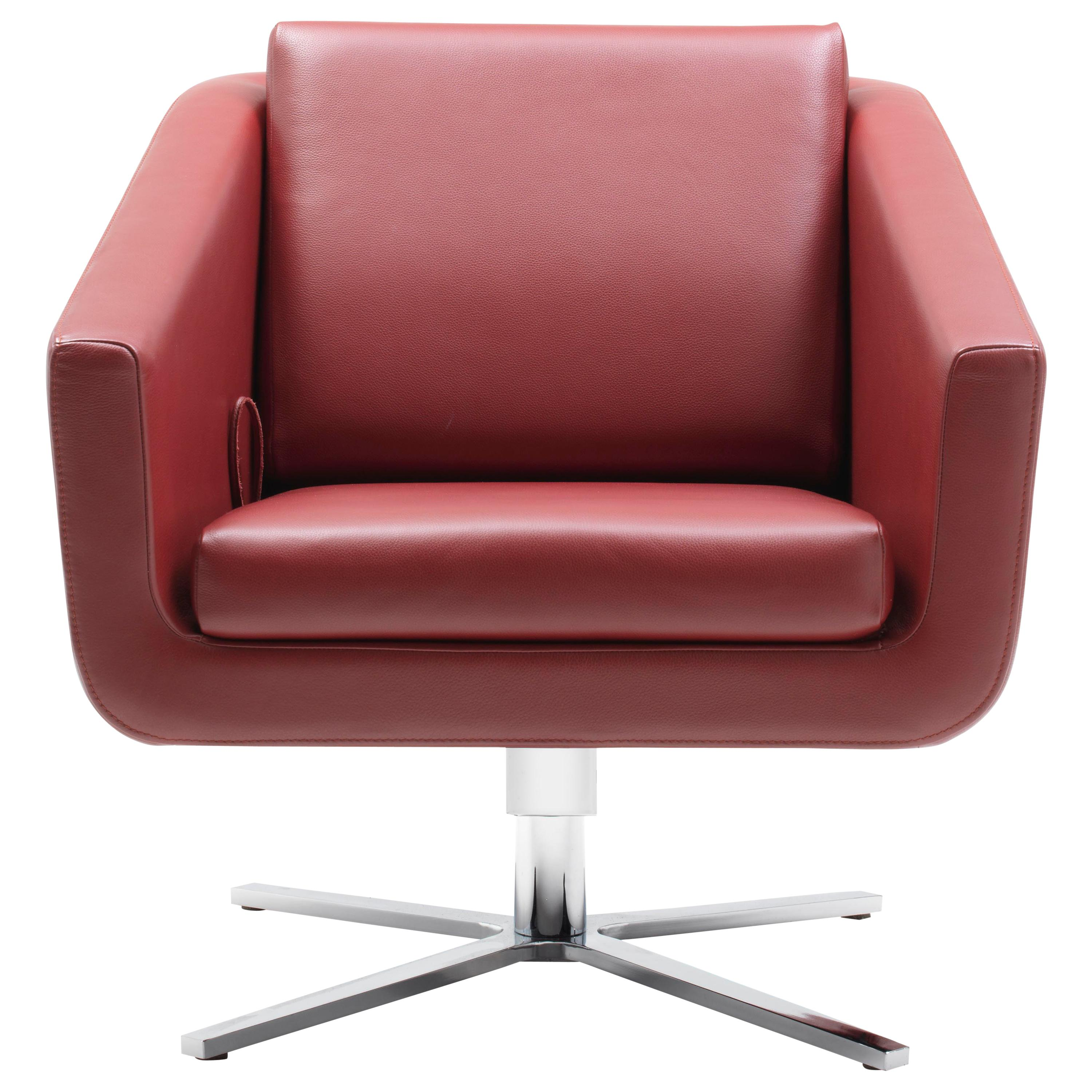 Pavo Adjustable Leather Armchair by FSM
